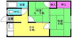 黒田荘[3号室]の間取り