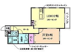 シャーメゾン佐藤[1階]の間取り