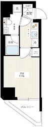 東急目黒線 西小山駅 徒歩10分の賃貸マンション 4階1Kの間取り
