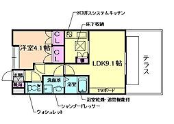 ファインムーブル[1階]の間取り
