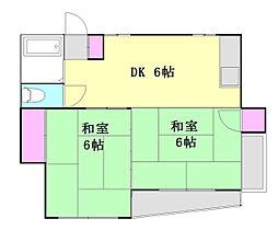 山口コーポ[201号室]の間取り