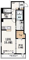 メゾン経堂 2階1SLDKの間取り