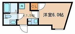 東京メトロ東西線 落合駅 徒歩3分の賃貸マンション 1階1Kの間取り
