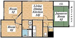 フジマンション[2階]の間取り