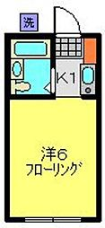 神奈川県横浜市港北区日吉5丁目の賃貸アパートの間取り