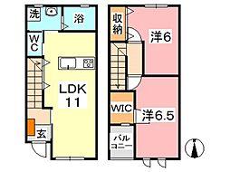 Akahai House[102号室]の間取り