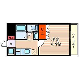 滋賀県彦根市高宮町の賃貸マンションの間取り