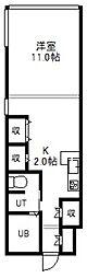 F・HOUSE[402号室]の間取り