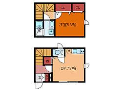 千葉県柏市大塚町の賃貸アパートの間取り