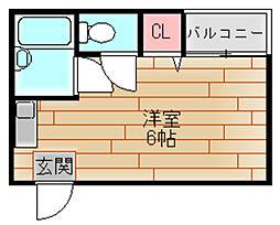 キューブ西加賀屋[2階]の間取り