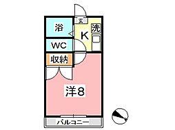 アモーレ福島[208号室]の間取り