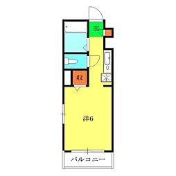 サンクレージュ横浜片倉[401号室]の間取り