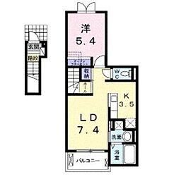 ラ・ルーチェⅡ[2階]の間取り