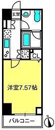 SINCERE東大宮 4階1Kの間取り
