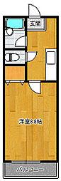 エフケイ大池[1階]の間取り