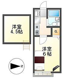 アパートメントハウス上島[2階]の間取り