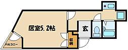 ル・ヴォン 1階1Kの間取り