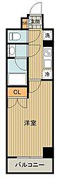 都営三田線 高島平駅 徒歩10分の賃貸マンション 5階1Kの間取り