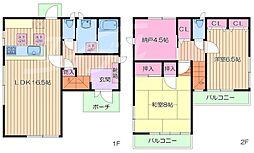 [一戸建] 大阪府箕面市稲5丁目 の賃貸【/】の間取り