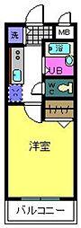 泉北高速鉄道 泉ヶ丘駅 徒歩15分の賃貸マンション 2階1Kの間取り