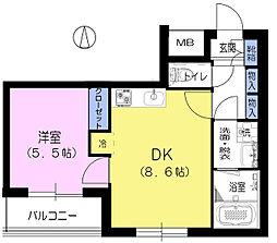 ヴィラージュ上池II[2階]の間取り