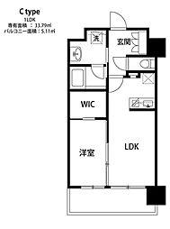 福岡市地下鉄空港線 中洲川端駅 徒歩6分の賃貸マンション 7階1LDKの間取り