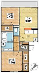 (仮)D-room東町[1階]の間取り