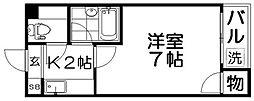 クオリティ石津[3階]の間取り