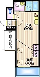 エンプレス チエ 2階1DKの間取り