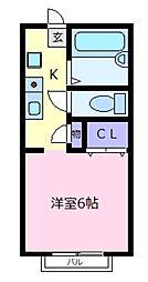 ハイツKYOYA[1階]の間取り
