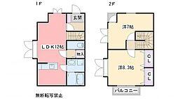 [タウンハウス] 福岡県福岡市東区香椎台4丁目 の賃貸【/】の間取り