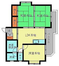 コートビレッジ赤坂[105号室]の間取り