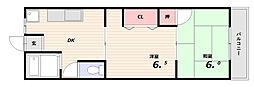 シャトー正城[4階]の間取り