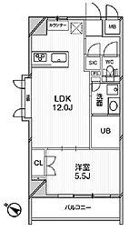 エルスタンザ文京千駄木 2階1LDKの間取り