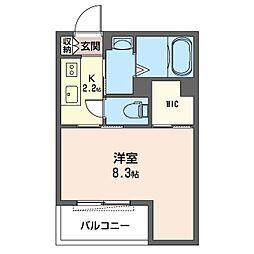 仮)八王子市初沢町シャーメゾン 3階1Kの間取り