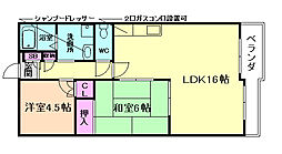 エミネンス梅田西[7階]の間取り