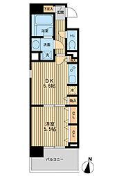JR京浜東北・根岸線 横浜駅 徒歩7分の賃貸マンション 2階1DKの間取り