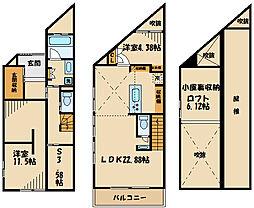 日野本町戸建 2階2SLDKの間取り