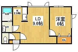 Residence LABO[204号室]の間取り
