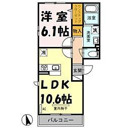 埼玉県さいたま市大宮区土手町3丁目の賃貸アパートの間取り