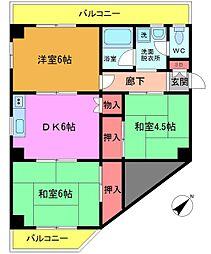 カーサ・ユミ[301号室]の間取り