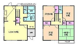 [テラスハウス] 兵庫県川西市大和西4丁目 の賃貸【兵庫県 / 川西市】の間取り