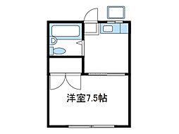 神奈川県相模原市南区相模台7丁目の賃貸アパートの間取り