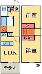 [テラスハウス] 千葉県市原市古市場 の賃貸【/】の間取り
