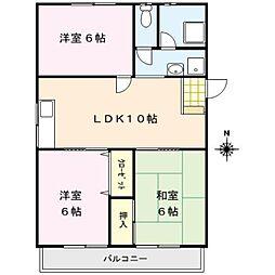 大津山シャインビル[1階]の間取り