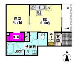 仮)大田区東糀谷2丁目シャーメゾン 1階1DKの間取り