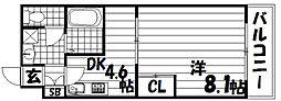 リヴェール久保町Ⅱ[3階]の間取り