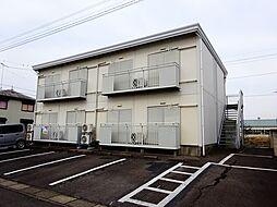 茨城県筑西市市野辺の賃貸アパートの外観
