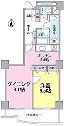 文京グリーンコート ビュータワー本駒込 11階1LDKの間取り