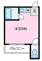 船井コーポ[2階]の間取り